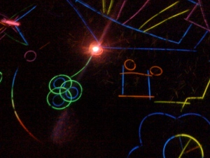 more glow stick art