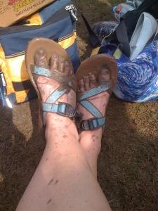 my mud covered feet
