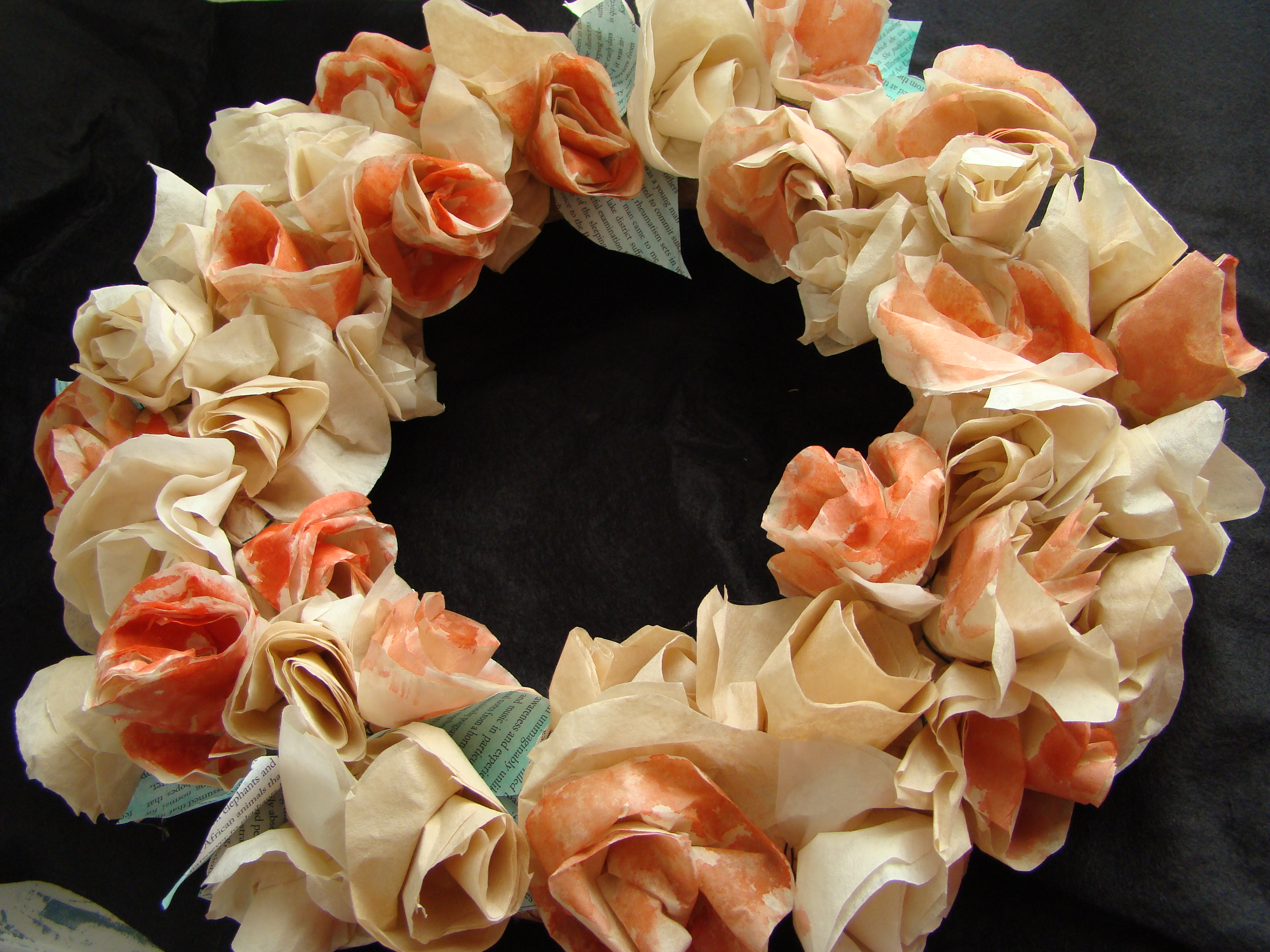 Coffee Filter Rose Wreath kelly mcmichael